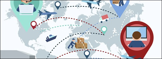 Production, transportation, delivery of cargo. Map. Vector illustration